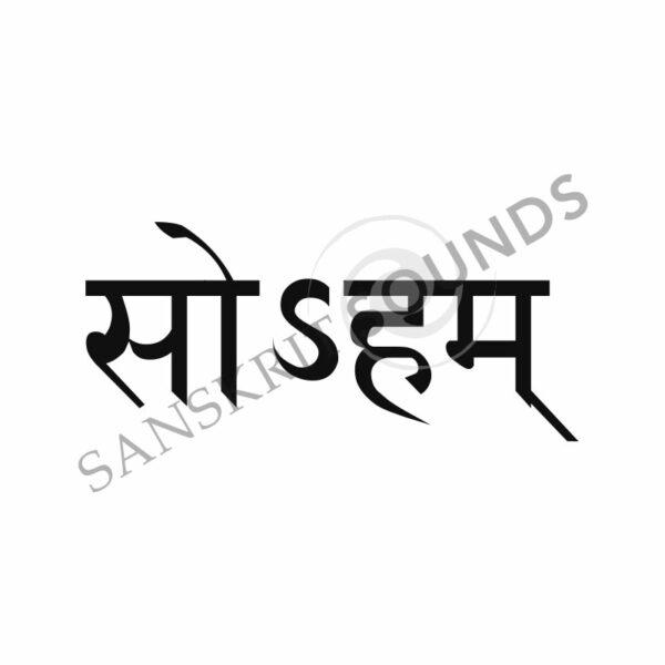 Sanskrit Devanagari for I am that